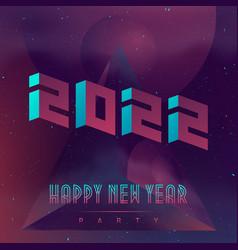 Happy new year 2022 futuristic design poster vector