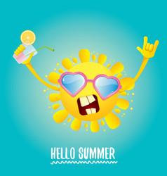Hello summer rock n roll label or logo vector