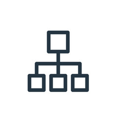 Hierarchical structure icon hierarchical vector