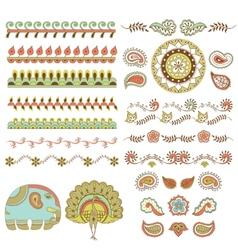 hindu ornament vector image