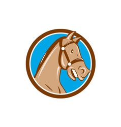 Horse Head Bridle Circle Cartoon vector