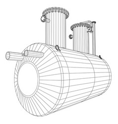 industrial equipment capacity wire-frame eps10 vector image