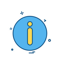 info icon deisgn vector image