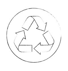 isolated recycle round icon vector image
