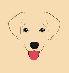 Labrador retriever dog little puppy vector