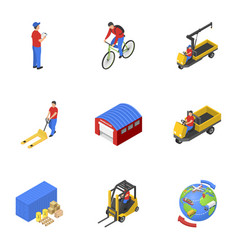 loading mail icons set isometric style vector image