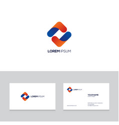 logo design elements with business card template vector image