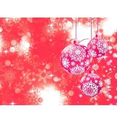 Merry Christmas with stars bokeh lights EPS 8 vector image