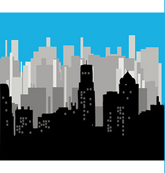 Modern cityscape vector image