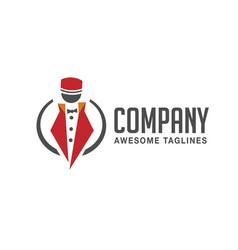 Modern conciergedoorman porter logo vector