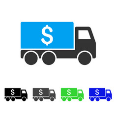Money delivery flat icon vector