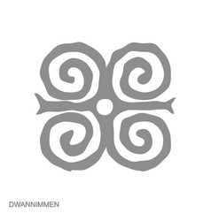 Monochrome icon with adinkra symbol dwannim vector