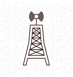 news antenna and media design vector image