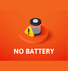 no battery isometric icon isolated on color vector image