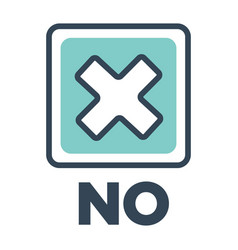 no mark close up isolated icon of flat style vector image