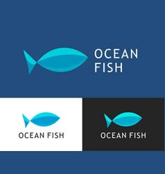 ocean fish logo for fish market vector image