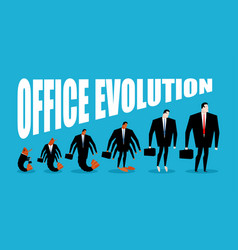 office evolution office plankton turns into boss vector image vector image