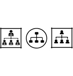 Organizational structure icon on white background vector