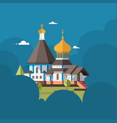 orthodox church flat design vector image