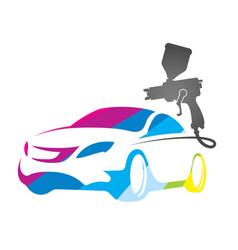 Painting auto design vector