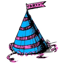 Party cap decorated vector image