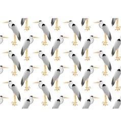 pattern heron vector image