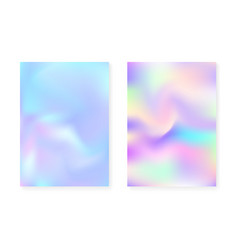 Pearlescent background with holographic gradient vector