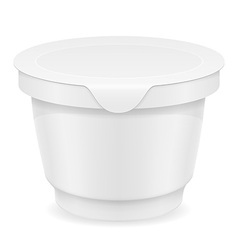 plastic container of yogurt or ice cream 03 vector image