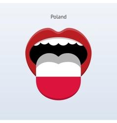 Poland language abstract human tongue vector