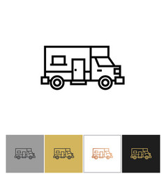 Recreational vehicle icon motor home camper sign vector
