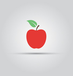 red apple isolated icon vector image
