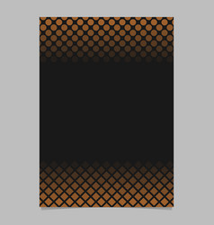 retro abstract halftone pattern brochure template vector image
