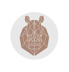 Rhino head polygonal silhouette vector