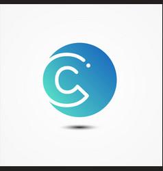 round symbol letter c design minimalist vector image