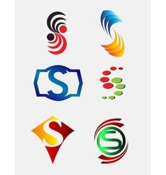 Set of Decorative Letter s - Icons Logo and Elemen vector