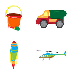 Set of geometric toys vector