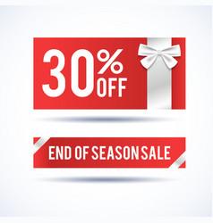 set of two christmas sale banners vector image