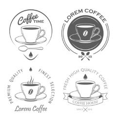 set vintage coffee labels vector image