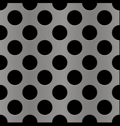 silver perforated metal seamless background vector image
