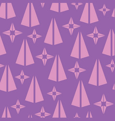 Simple triangle shape seamless pattern vector