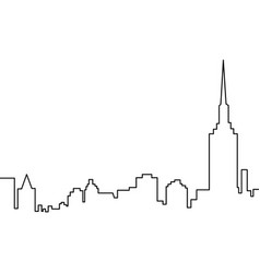 skyscrapers one line vector image