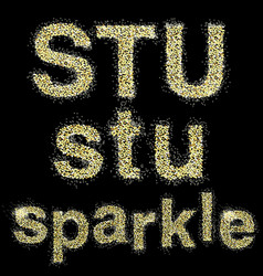 sparkle vector image