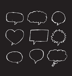 speech bubble sketch hand drawn vector image