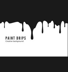 splatters and dripping black ink drips seamless vector image