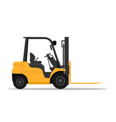 Stock forklift with fork extensions vector