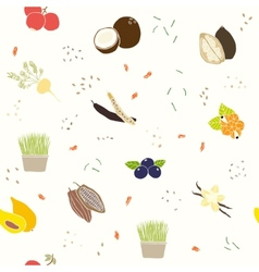 Superfoods pattern vector image