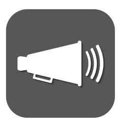 The megaphone icon Bullhorn symbol Flat vector image