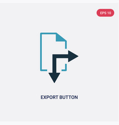 Two color export button icon from user interface vector