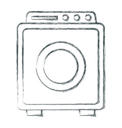 washer machine symbol vector image
