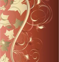 wave leaf vector image vector image